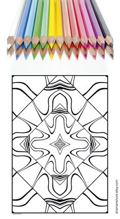 20 Abstract Kaleidoscope Coloring Pages for adults Printable, Digital Adult Coloring Book Pdf, INSTANT DOWNLOAD #ShShPrintables on Etsy | Coloring book pages for grown ups