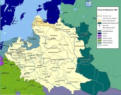 The Polish–Lithuanian Commonwealth territories after Truce of Andrusovo in 1667.