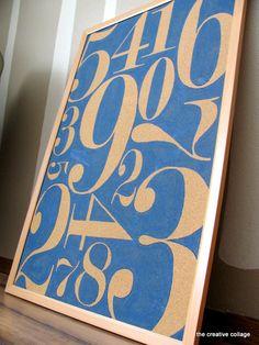 Numbers cork board