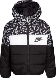 Nike Little Boys Oversized Colorblocked Puffer Jacket - Green 4 Sporty Outfits, Nike Outfits, Swag Outfits, Boys Puffer Jacket, Mens Puffer Jackets, Nike Clothes Mens, Toddler Boy Outfits, Toddler Boys, Estilo Fitness