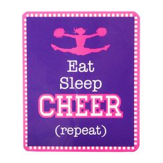Eat Sleep Cheer Repeat Plush Throw Blanket | Claire's