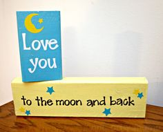 "I like the book ""Guess How Much I Love You"" and these blocks would be perfect in a kid's room!!!"