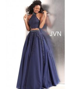 JVN Prom by Jovani Off White Grey Two Piece Embroidered Prom Ballgown Jovani Dresses, Prom Dresses, Formal Dresses, Blue Dresses, Prom Dress Shopping, Ball Gowns Prom, Perfect Prom Dress, Couture Dresses, Colorful Fashion