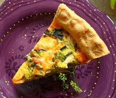 Blue Scorcher Summer Squash Quiche  Crust  3 1/3 cup unbleached  flour  1/2 tsp salt  1 cup unsalted butter  1 egg yolk  1 tablespoon of apple cider vinegar  Around 1 cup of very cold water