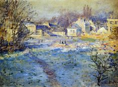 Claude Monet White Frost oil painting reproductions for sale Claude Monet, Monet Paintings, Landscape Paintings, Landscapes, Artist Monet, Art Sur Toile, Art Japonais, Post Impressionism, Impressionist Paintings