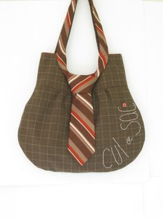 Necktie Bag upcycled purse