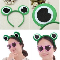 Cute Green Frog Eye Headband Hair Band Headwear For Fancy Dress Costume Cosplay