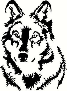 Wolf Vinyl Cut Out Decal, Sticker in your choice of Color and Size