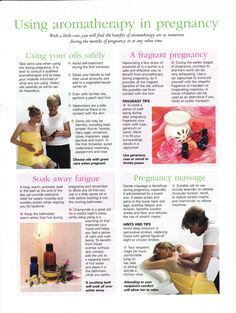 Using aromatherapy in pregnancy