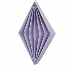 Harlequin dice - diamond - Lilas - Large #paper #spring #origami #decoration #spring