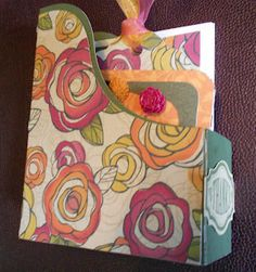 "Card Holder made from CTMH  Cricut Artiste & ""Flirty "" paper"