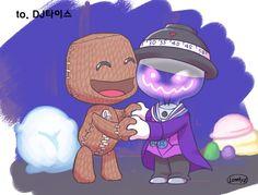Good Chum Sackboy and Newton (Drawn by Lonely) by DJ-Thais