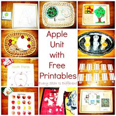 Apple themed activities for preschoolers with free printables.