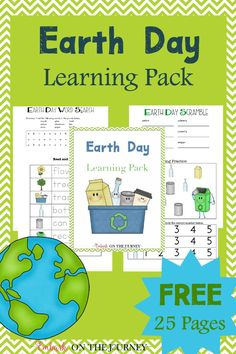 Earth Day Learning Pack for Celebrate Earth Day with this fun . - Earth D. - Earth Day - Earth Day Learning Pack for Celebrate Earth Day with this fun … – Earth Day Learning Pack - Earth Day Worksheets, Earth Day Activities, Spring Activities, Educational Activities, Learning Activities, Activities For Kids, Science Toddlers, Science Resources, School Resources