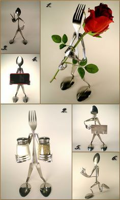 spoon and fork art fun and beautiful for home, must have! amazing artwork recycling old spoon and fork and create this! :D