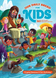 Free Read Our Daily Bread for Kids: 365 Meaningful Moments with God Author Crystal Bowman, Teri McKinley, et al. Free Pdf Books, Free Ebooks, Our Daily Bread Devotional, Sunday School Songs, Father Abraham, Devotions For Kids, Kids Singing, Fun Illustration, Illustrations