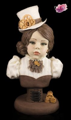 IVETTE - cake by Raquel García Martínez Raquel Garcia, Cake Structure, Steampunk, Gravity Defying Cake, Steamed Cake, Food Artists, Sculpted Cakes, Cupcake Cookies, Cupcakes
