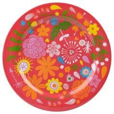 assiette flowers mélamine 25cm