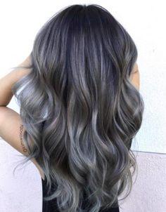 Charcoal hair inspiration grey color gabilu mireles fat gab body positive curvy blogger
