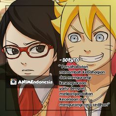 """""""persahabatan menambah kebahagiaan dan mengurangi kesengsaraan yaitu dengan melipat gandakan keceriaan dan mengurangi rasa sedih"""" [BORUTO]  FOLLOW/LIKE untuk dapat update tiap hari... :) #anime #animeindonesia #animeid #animeindo #narutoindonesia #otaku #animequotes #animeart #animefans #animeworld #animelove #animeboy #animegirl #animedrawing #animelover #animefreak #animestagram #animekawaii #animeforever #animeaddict Love My Brother Quotes, I Love My Brother, Best Qoutes, Naruto Quotes, Spongebob Squarepants, Anime Naruto, Boruto, Otaku, My Photos"""
