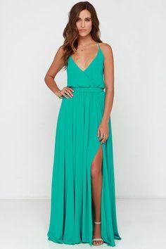 6bd22857d7d Bienvenido A Miami Green Maxi Dress