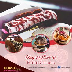 Stay as cool as #FumoCreams. #IceCreamParlourInDelhi #SmokeIceCream #ColdRollIceCream #IceCrreamShakes #LiquidNitrogenIceCream