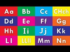 Learn Spanish / Español Alphabet - ABC Flash Cards (HD) - YouTube