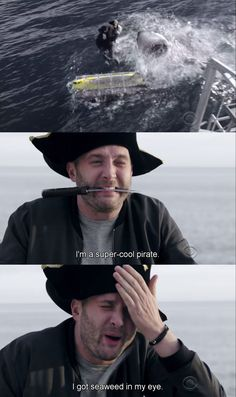 Hahaha that one time Toby's dream of being a pirate came true...and he failed miserably at being one :P