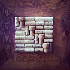 Medium sized #upcycled wine #cork board. Follow me on FB and win this!! www.facebook.com/reclaimednj