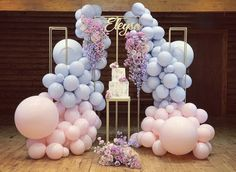 Repost from Beautiful display of colors💗💜🌸 Floral styling, balloon installation, backdrop hire & signage: Cake: Plinth & planning: Ballon Backdrop, Balloon Arch, Balloon Garland, Birthday Balloon Decorations, Birthday Balloons, Baby Shower Decorations, Deco Baby Shower, Baby Shower Balloons, Mickey E Minie