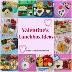 FUN Valentine's Lunch Box Ideas. #Valentines