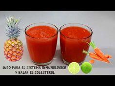 Jugo para el sistema inmunologico, colesterol, trigliceridos, perder pes...