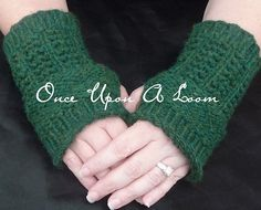 Ravelry: Melisande Wrist Warmers (Loom Knit) pattern by Once Upon A Loom