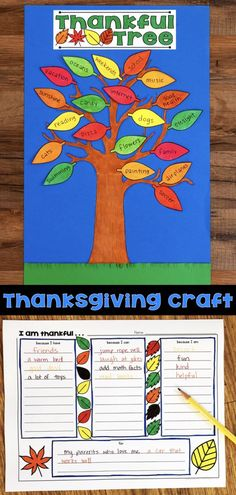 A fun Thanksgiving Craft that helps kids think about why they are thankful. The craft can last all month long as kids add a leaf each day with a thankful idea. Includes a graphic organizer and multiple templates. Classroom Crafts, Classroom Activities, Preschool Activities, Thanksgiving Activities For Kids, Thanksgiving Crafts For Kids, Thankful Tree, Kids Church, Halloween, Templates
