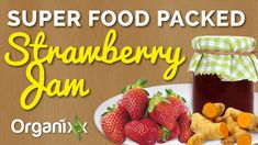 Jam lovers, this one's for you! This sweet and healthy jam recipe is packed with superfoods like, strawberries, apples, fresh turmeric root, ginger and manuka honey. This homemade strawberry jam is quick and easy to make and you'll also learn how to use turmeric effectively when following this recipe. If you enjoy this and other Organixx recipes, please give us a thumbs up and share them with your family and friends. #organixxrecipes
