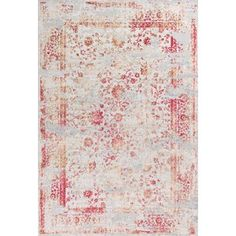 Everly Ivory/Red Area Rug