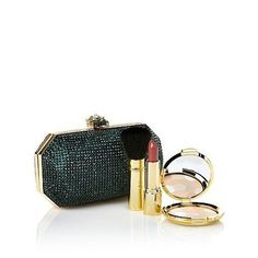 Signature Club A Real Collectibles by Adrienne Remarkable Jeweled Evening Bag  PowderLipstick GoldtoneGreen >>> Want to know more, click on the image. (This is an affiliate link)