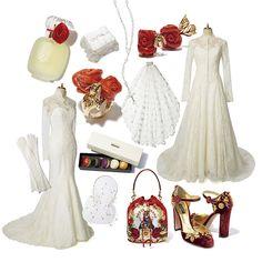 ウエディング:情熱の赤を、エレガントなレースに合わせて纏う術。花嫁は、装飾主義。|VOGUE Wedding いちばんおしゃれなウエディングバイブル