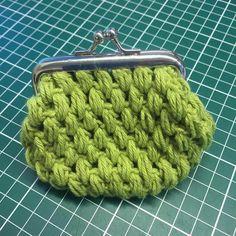 Monedero tejido a crochet con boquilla <3  #crochet #green #purse #purselover #ideas #beautiful #loveit