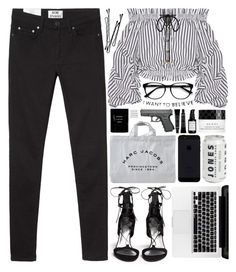 """""""(?)"""" by kidrauhlftbizzle ❤ liked on Polyvore featuring Stuart Weitzman, Acne Studios, Caroline Constas, Marc Jacobs, Gucci, Root Science, Cleanse by Lauren Napier, BOBBY and EyeBuyDirect.com"""