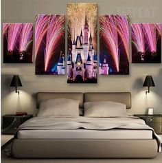 Disney Celebration 5 Piece Canvas Painting - Buying Home - What to be awared before buying home? Check this out - TEEPEAT Canvas Medium / Unframed Disney Celebration 5 Piece Canvas Painting Disney Princess Bedroom, Princess Bedrooms, Disney Bedrooms, Canvas Art Prints, Wall Canvas, Painting Canvas, Wall Art, Canvas Artwork, Casa Disney
