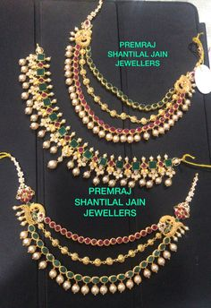 whatsapp on 9700009000 for enquiry with picture Gold Jhumka Earrings, Indian Jewelry Earrings, Ear Jewelry, Gold Jewellery, Gold Bangles Design, Gold Earrings Designs, Ear Chain, Gold Mangalsutra Designs, Gold Anklet
