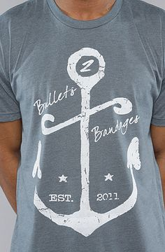 The Anchor Tee in Blue & White    Bullets 2 Bandages
