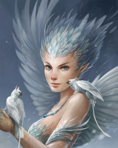 Snowy Harpy by sandara.deviantart.com on @DeviantArt