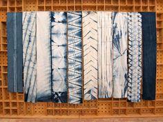 Indigo Dyed Cotton Scarf  Isis by GrahamKeegan on Etsy, $65.00