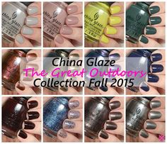 China Glaze Fall 2015 The Great Outdoors Collection Swatches & Review