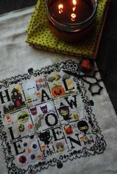 Adorable...Halloween cross stitch kits!