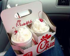 Chick-Fil-A Milkshakes.