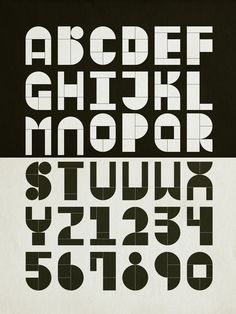 Modular Typography by Antonio Rodrigues Jr, via Behance