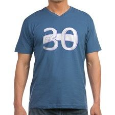 Thirty Mens V-Neck T-Shirt